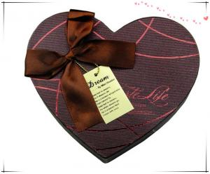China full color heart-shape gift box with divides on sale