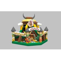 China Commercial inflatable indian dry slide inflatable small slide for kids PVC inflatable little slide with inflatable fence on sale