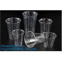 Elegant Shape Drinking Straw Promotional Cups With Straws Single Wall Plastic Cup,double wall custom plastic cups no min