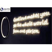 China Building Decoration Outdoor Neon Signs Customized Dimensions Warm White , Red on sale
