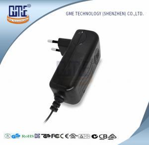 China CCTV Cameras EU Plug Power Adapter AC DC  Black 90V - 264V AC Input Voltage on sale