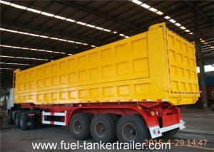 China Tri - axles rear / side dump semi trailer for  sand , coal , stone transportation on sale
