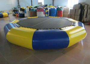 China Customized Jumping Floating Water Trampoline , Giant Water Trampoline Dia4m on sale
