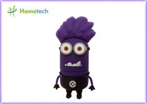 China 4GB / 8GB Soft rubber Cute Cartoon USB Flash Drive Purple for Children on sale