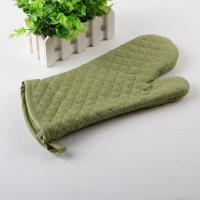 China Diamond Quilting Heat Resistant Microwave Kitchen Oven Mitts with Terry Cloth Inside on sale