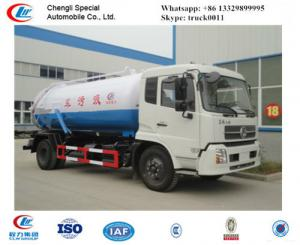 China factory sale best price dongfeng tianjin 190hp vacuum sewage suction truck, hot sale dongfeng brand sludge tank truck on sale