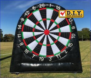 China Rental Inflatable Sports Equipment Football Game Giant Inflatable Dart Board on sale