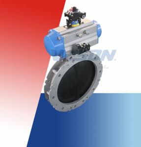 China Automated Butterfly Valve / On Off Butterfly Valve For Dry Bulk Or Solid Or Liquid Slurry on sale