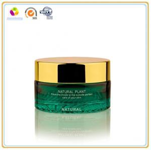 China Crystal Cosmetic Cream Glass Empty Jar Coated Cream Jar on sale