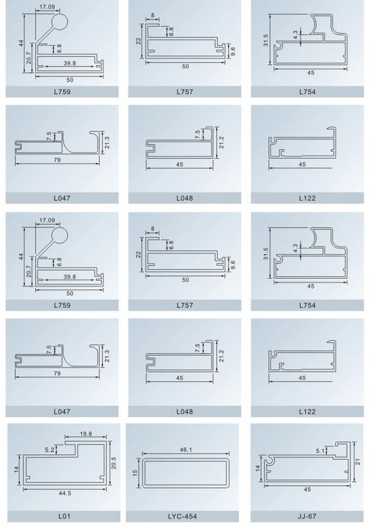 Aluminium kitchen cabinet doors profile/ extruded aluminum Kitchen ...
