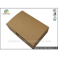 China Folding Shoes Custom Corrugated Boxes 1mm 1.5mm Rigid Cardboard Thickness on sale