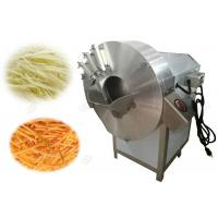 China Spiral Carrot Strips Machine , Automatic Ginger Shredder Machine 1-8mm on sale