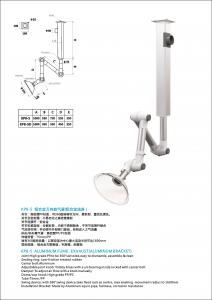 China Ceiling mount fume extraction arm/for gas, aluminum alloy,joint rigid fume exhaust on sale