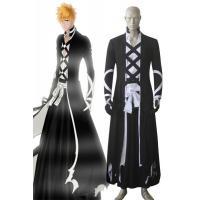Anime Costumes Wholesale Bleach Ichigo Kurosaki New Bankai Kimono Look Anime Cosplay Costumes