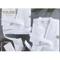 China Basic Hooded Hotel Quality Bathrobes Luxury Hooded White Terry Velour Shawl  Robe on sale . fe90b8de0