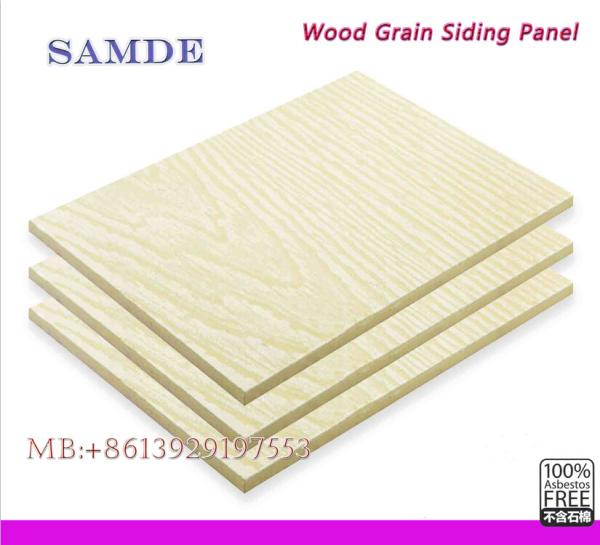 Wood Grain Cement Fiberboard Siding Panel 3050192759mm For Sale
