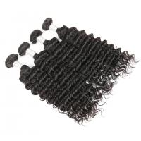 China Hair Weft Real Virgin Peruvian Hair Deep Wave 100% Human Hair Extension on sale