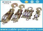 Transmission Line Stringing Tools / Snatch Steel Wire Rope Pulley Block