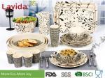 Modern Pattern Reusable Bamboo Dinnerware Durable Non - Fragile Formaldehyde Free