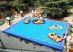 Piscinas da explosão do retângulo da piscina inflável exterior das crianças grandes