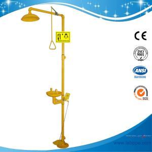 Quality SH712BF-Galvanization Iron Safety shower & eyewash station,Foot pedal Carbon Steel eyewash for sale