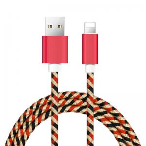 China IPhone 8 / 8plus / X USB Data Cable With Camouflage Nylon Woven Braided on sale