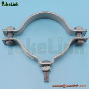 China high quality galvanized electric pole clamp/pole band for overhead line fittings on sale