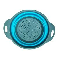 China BPA Free Food Grade Silicone Sink Strainer Eco - Friendly With Handle Steam Basket on sale