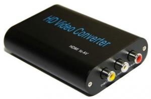 China HDMI TO AV (CVBS) Converter, convert HDMI to CVBS+FL/FR stereo audio, PAL/NTSC, +5VDC on sale