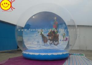 China Customized Logo Holiday Inflatables , PVC Inflatable Snow Globe Decorative Holiday for Christmas on sale