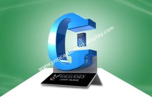 China G Shaped Magnetic Floating Display for Cigarette Display , Silver Screen Printing on sale
