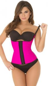 China Sexy Bodyshapers Wholesale Hot Pink Spaghetti Strap Contour Waist Trainer with size S M,L,XL on sale