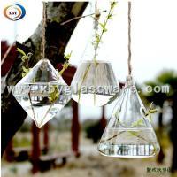 glass hanging flower water vase