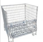 Galvanized Collapsible Wire Container / Wire Mesh Palle Cage For Warehouse