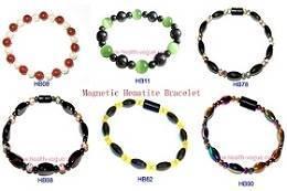 China Hematite Magnetic Beads Bracelet on sale