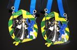 China Carnival Custom Made Medals , Silver Plating Custom Metal Medallions wholesale