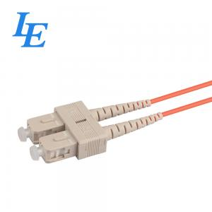 China SC / UPC Optical Patch Cord Simplex / Duplex Cable Type With Ceramic Ferrule on sale