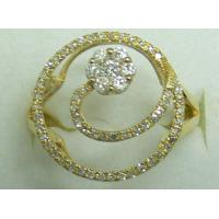 Round Circle Flower Shape 925 Sterling Silver Rings With Clear White Zircon