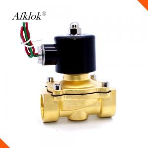 China N/C Brass 2W-500-50 110 volt 12 volt 2inch Shut Off Valve for Water in China on sale