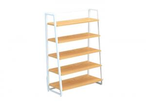 China Multi Layers Laminated Retail Display Shelves Metal Frame For Shopping Mall on sale