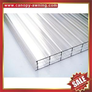 China quatre couches de feuille de polycarbonate, feuille de PC de multiwall, panneau creux de PC, panneau creux de PC, excellente résistance de la température ! on sale