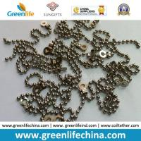 China Decorative 2.0mm Metal /Stainless Steel Bead Ball Badge Chain on sale