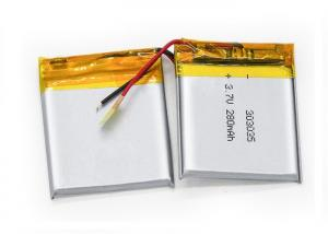 China Small 303035 3.7V  280mAh Li Ion Battery Rechargeable Li-Poly Battery on sale