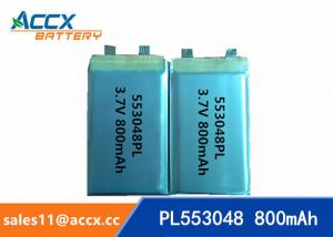 China 553048 pl553048 3.7v 800mah lithium polymer rechargeable battery for portable pinter on sale