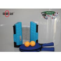 Unbreakable Outdoor Table Tennis Set Ultraviolet With 2 Ping Pong Balls