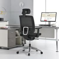No Noise President Swivel Chair , Sliding High Back Mesh Office Chair