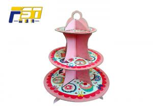 China Ink Water Printing Cardboard Cake Display Easy Carrying High Weight Capacity on sale