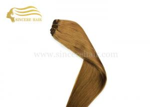 China 24 Inch Remy Human Hair Extensions, 60 CM Long Light Brown Remy Human Hair Weave Weft Extensions 100 Gram For Sale on sale