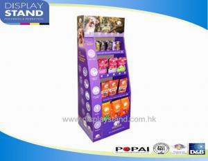 China Cardboard Free Standing Display Unit for Dog Food , Dog Snack and Toys Stand Shelf on sale