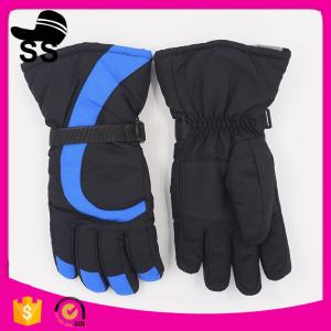 China Stock Small Order Winter Sport Protect Good Quality Hook Pattern Durable Men Black Ski Gloves on sale